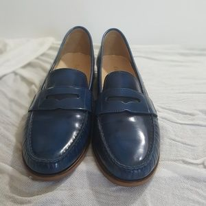 Cole Haan Blue Leather Loafer 8.5